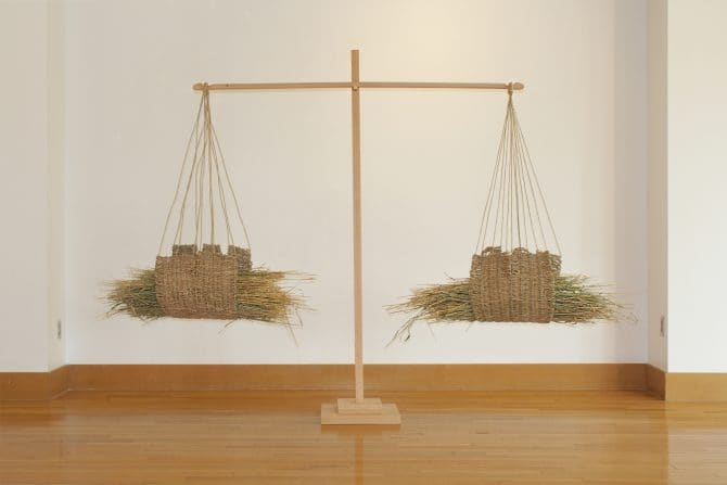 Load-bearing (Capacity) Wheat, seagrass, wood, brass 2020