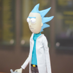 Rick figure made by Geek Out participant