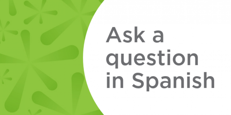 ask a question in spanish card