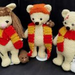 "Crocheted ""Beary Potter"" and friends"