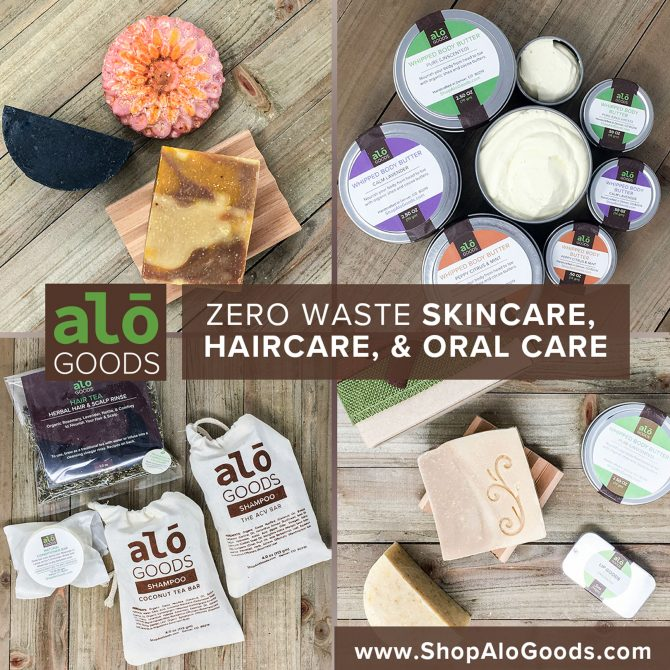 Alō Goods Zero Wast Skincare, Haircare, & Oral Care. www.ShopAloGoods.com