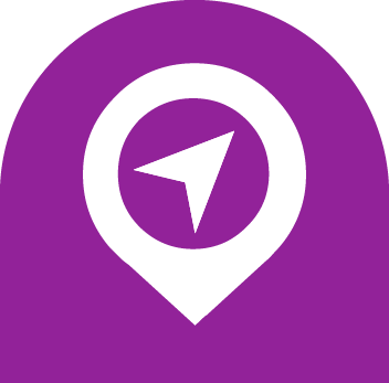 directions map icon purple