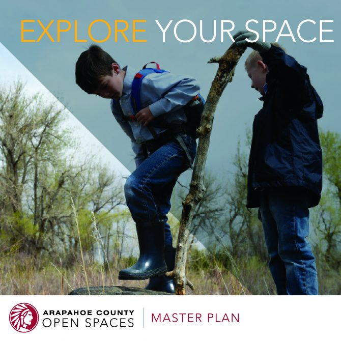 Attention Arapahoe County youth! The Arapahoe County Open Spaces department wants to hear what you think of our parks, trails and open spaces as part of our Master Plan update. Download our new #YouthACOS adventure workbook today! It's loaded with activities, from writing prompts to photography tips and a call for photos. The workbook is geared toward kids ages 7-12, but we think kids of all ages will find it fun! Please submit your completed workbook and photos to findyourspace@arapahoegov.com by August 31 for a chance to be featured online. To download the workbook and find more information, please visit https://www.arapahoegov.com/osmasterplan. Here is a direct link to the photography activity and submission details: https://spark.adobe.com/page/SaJlIaAjUrSrO/ Contact lmayer@arapahoegov.com with questions!