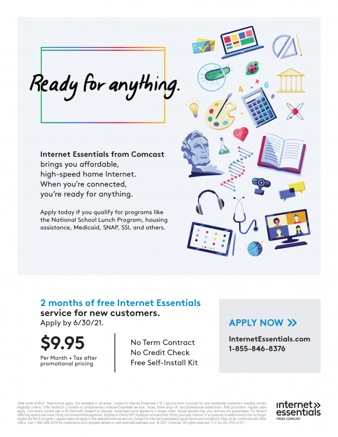Internet Essentials from Comcast brings you a ordable, high-speed home Internet. www.InternetEssentials.com phone:1-855-846-8376