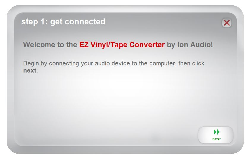 "Image of ""Step 1"" after clicking on EZ desktop icon."