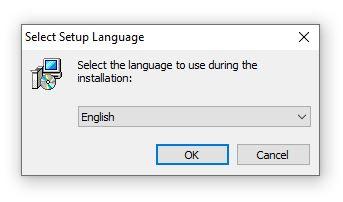 Image of language selection menu.