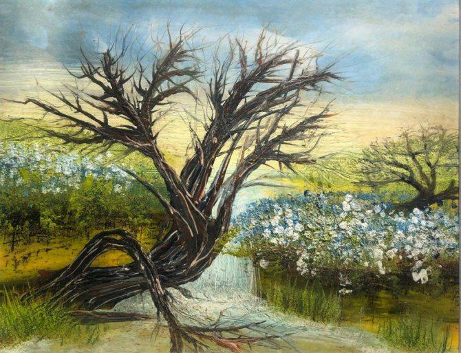"""Ala Park, """"Reflextion"""", encaustic (hot wax) painting"""