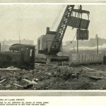 Picture showing disposal of waste on lakefront