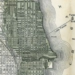 Map of Chicago Showing that Parks, Boulevards and Burnt District (1871)