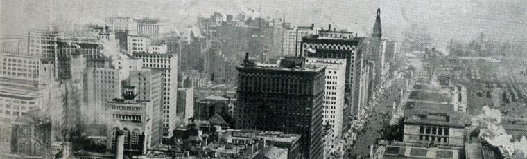 Birds-eye view of buildings