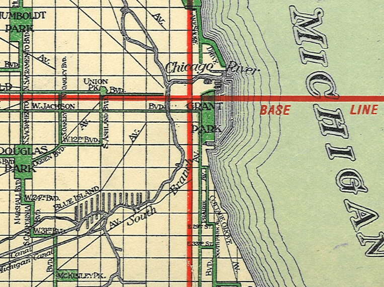 Chicago Map Streets.Not Lost Thank Edward Brennan Chicago Public Library