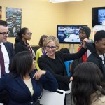 Chicago First Lady Amy Rule and Chance the Rapper open YOUmedia at Woodson Regional Library