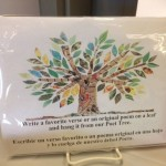 sign explaining a Poet Tree