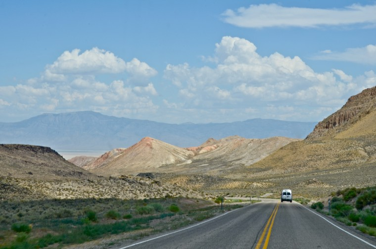 scene of open road