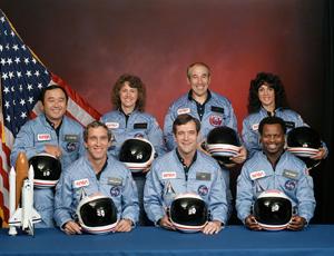 Members of the Challenger crew