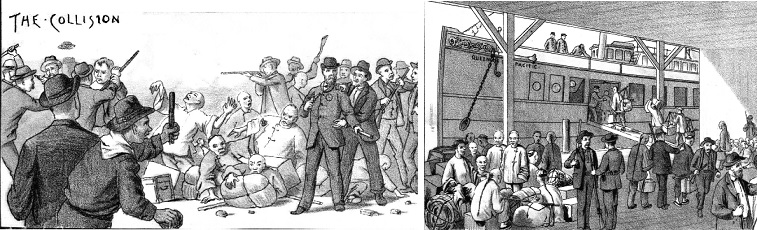 Riot and forced removal of Chinese from Seattle 1886 Source: West Shore Magazine
