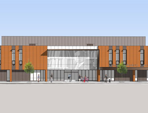 Woodson Regional Library rendering
