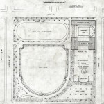 Landscape architectural plan of Cornell Square, Olmsted Brothers, 1904. Source: Chicago Park District Records, Item 211.