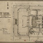 Drawn plan of Sewer system, Davis Square, South Park Commissioners, 1916 October. Source: Chicago Park District Records, Item 699C.