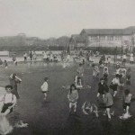 Photograph of children in wading pool in Mark White Square, circa 1911. Source: Chicago City-Wide Collection, Box 99, Folder 16