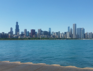 Skyline view from the Adler Planetarium Source: Megan A.