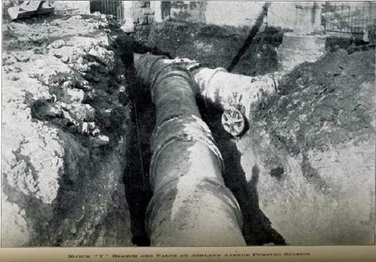 Big pipe in trench