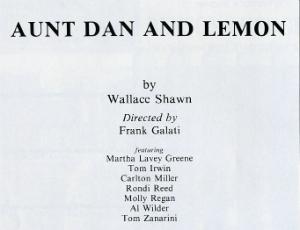 program Aunt Dan and Lemon