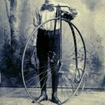 Bicycle with unidentified owner, circa 1899. Source: Chicago Public Library, Special Collections, West [Near West] Side Community Collection, Photograph 1.259.