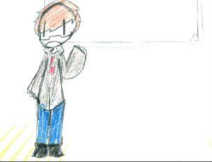 Sketched Image of Mr. Vasquez