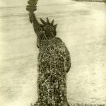 Human Statue of Liberty, 18,000 people, Camp Dodge, Des Moines, Iowa. Source: Special Collections, World War I Collection, 2008.37.1