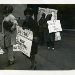 Wesley Hospital picket line 1970s