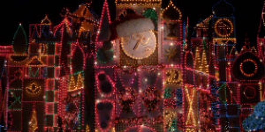 It's a Small World Holiday Clock