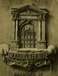 Playbill from the Iroquois Theatre.