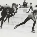 Speed Skating, McFetridge Sports Arena, California Park, undated. Source: Chicago Park District Records: Photographs, Special Collections, Image 012_006_008