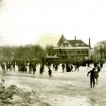 Ice Skaters at Garfield Park Lagoon, 1896. Source: East Garfield Park Community Collection, Special Collections, Photograph 1.72.
