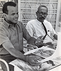 Harry Belafonte and Charles White