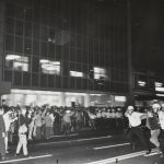 Police clash with protesters near Grant Park, 1968. Source: Special Collections, Chicago Park District Records: Photographs, Box 32, Folder 5