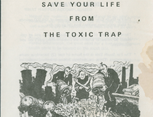 """""""Save Your Life From The Toxic Trap"""" brochure, circa 1987"""