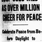 Headline: Loop goes wild as over million cheer for peace; Celebrate peace from before daylight to midnight