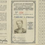 Century of Progress Season Pass, 1933. Fairgoer Marion Bragdon purchased 150 visits for $15.00 in 1933. Source: Special Collections, Century of Progress Collection, Box 21, Folder 1
