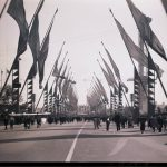 Avenue of Flags, circa 1934. Source: Special Collections, Chicago Park District Records: Photographic Negatives, Negative 006_001.