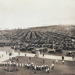 Crowded Parking Lot, circa 1934. Source: Special Collections, Chicago Park District Records: Photographic Negatives, Negative 006_004.