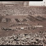 Pan-American Games opening ceremony at Soldier Field, 1959. Source: Special Collections, Chicago Park District Records: Photographic Negatives, 033_004_002