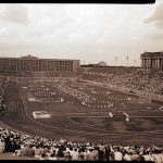 Pan-American Games opening ceremony at Soldier Field, 1959. Source: Special Collections, Chicago Park District Records: Photographic Negatives, 033_004_003