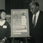 Amy Chan, winner of America's Marathon's Community Poster contest, 1986 October 7. Photographer: Antonio Dickey