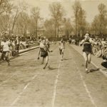 Young men participate in Chicago Park District race, undated.
