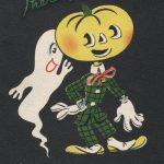ghost whispering to jack-o-lantern