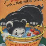 bear bobbing for apples