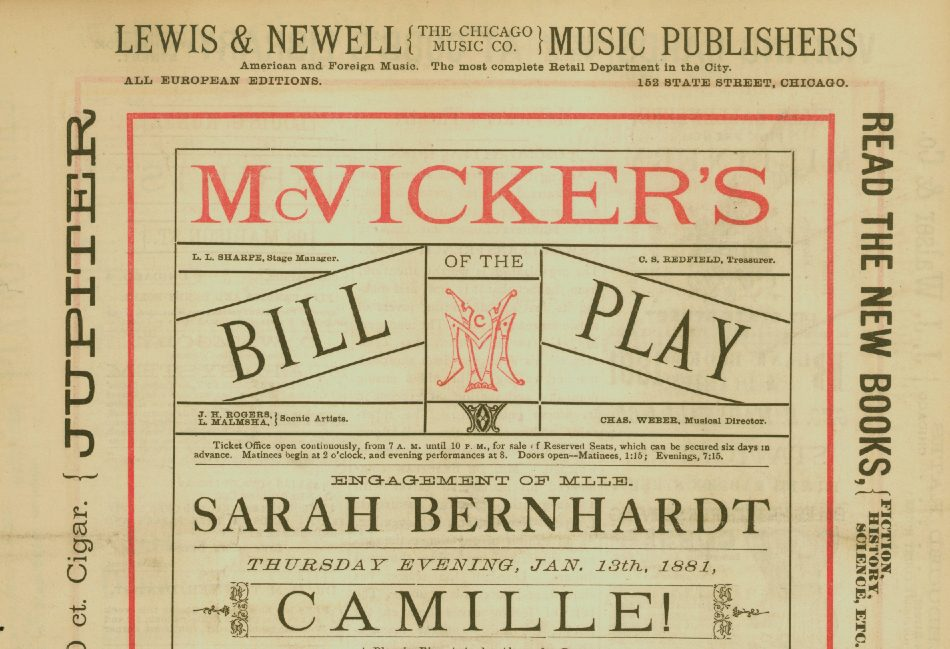 McVicker's Theatre playbill