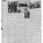 Newspaper page with photos and articles